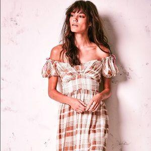 LoveShackFancy Angie Dress in Acorn